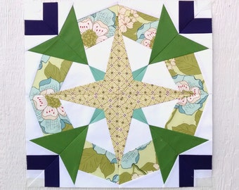 Paper Piecing - Scorpio #246 - Zodiac Block of the Month - 3 sizes