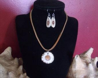 Deer Antler and Carnelian Jewelry Set, Deer Antler Jewelry Set, Deer Antler Earrings, Deer Antler Necklace, Carnelian Jewwelry Set