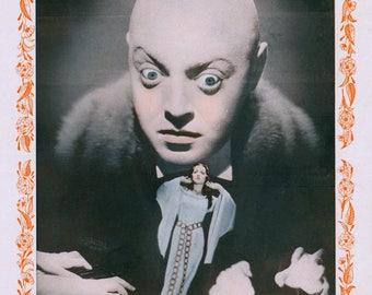 Vintage Japanese Print - Still for Horror Movie - From 1930s Japanese Movie Magazine