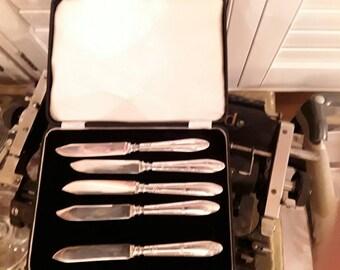 Vintage Knife Set Rogers Brothers 1847 Velvet Lined Storage Box