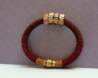 Earth tone brick Bracelet