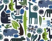 "SALE FABRIC - 2D Zoo Pool Fabric - Alexander Henry Fabric - 100% Cotton Fabric - Zoo Animal Fabric - 24"" remnant - Jungle Animal Fabric"