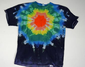 Star of Mandala ~ Tie Dye T-Shirt (Fruit of the Loom Heavy HD Size XL) (One of a Kind)