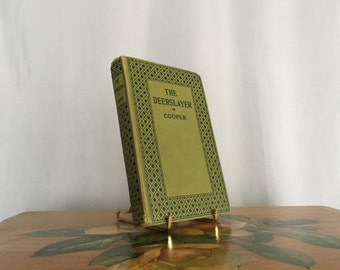 The Deerslayer by James Fenimore Cooper Vintage Green Black Distressed Hardcover