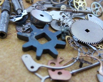 Vintage WATCH PARTS gears - Steampunk parts - K24 Listing is for all the watch parts seen in photos