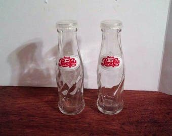 Glass Pepsi Cola Bottle Salt And Pepper Shakers Pepsi Soda Advertising