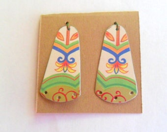 Upcycled Reclaimed Cookie Tin Earring Findings