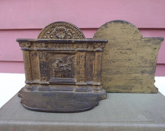 Vintage Sewing Cast Iron Gilded  Bookends