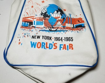 1964 1965 New York Worlds Fair Official Bag Tote or Lunch or Anything Bag