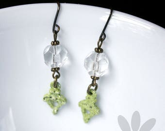 Chandelier Bead Earrings - repurposed, upcycled, altered