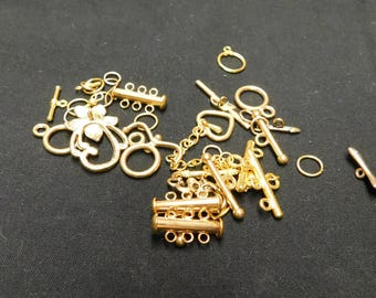 CLEARANCE - Gold Plated Toggle Clasps