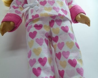 American girl Valentines day pajamas