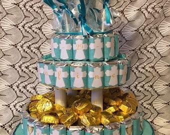 Communion Cake, Four Tier Communion Cake, Personalized Communion Cake