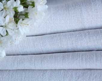 C 348 : antique handloomed 14.02 yards , french 리넨  upholstering, curtain projects, wedding,PALE CREAMY, vintage, do it yourself,