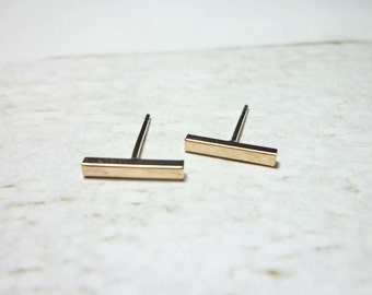 Bar Stud Earrings, Dainty Earrings