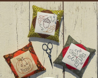 Pretty Pins #4 Embroidery Pin Cushion Pattern download