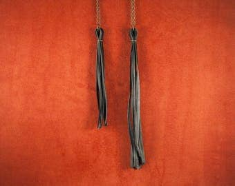 Fringe Bike Tube Necklace