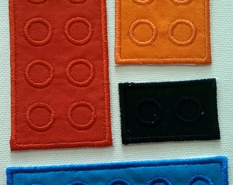 LEGO Iron on DYI patch, block iron on patch, iron on, patch, applique