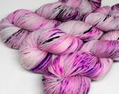 Hand Dyed  Speckled Sock Yarn - SW Sock 80/20 - Superwash Merino Nylon - 400 yards  - Banshee