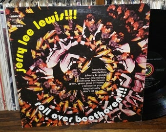 Jerry Lee Lewis Roll Over Beethoven Vintage Vinyl Record