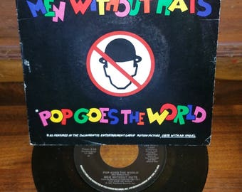 Men Without Hats Pop Goes The World Vintage 45 RPM Record