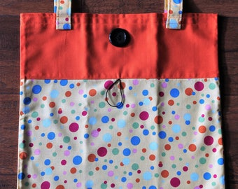 Tote Bag Fold Up Take Along Light Weight Roll Up Tote Bag Bag-ette Purse