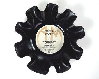 Joe Jackson Band Vinyl Record Bowl Vintage LP Album 1980 (Beat Crazy) Gold and Cream Colored Label