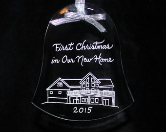 Ornament First Christmas in New Home, Your Home Custom Engraved