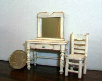 Tiny Vanity and Chair  1:24 scale
