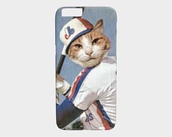 """iphone 6 case 7 Plus iPhone 6S iphone 5 5S Case Baseball Cat Montreal Expos NBL Sports Cellphone Case Gear - Les """"Chat""""pos de Montréal"""