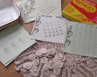 Vintage 1948 Music Bingo Game from Boston Music in Original Box