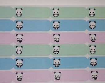 24 Bamboo the Panda Appointment Label Stickers for your Erin Condren Life Planner