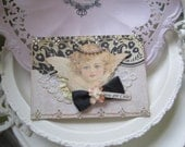 Handmade Angel Card - Victorian Angel Card - Young Girl Card