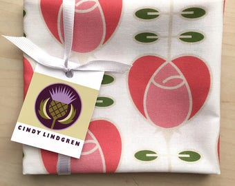 Rose Heart Fabric, Fat Quarter, Spoonflower,large