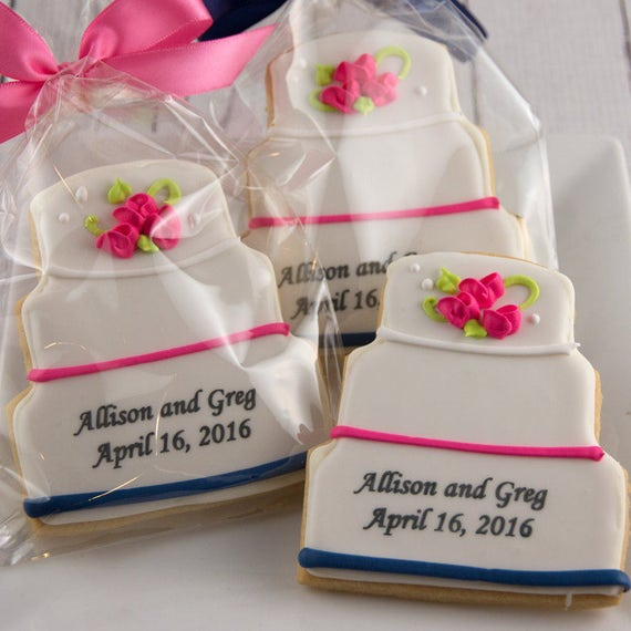 wedding cake cookie favors wedding cake cookies personalized 12 decorated sugar 22237