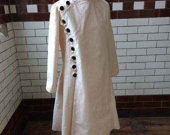 Steampunk style mens lab coat