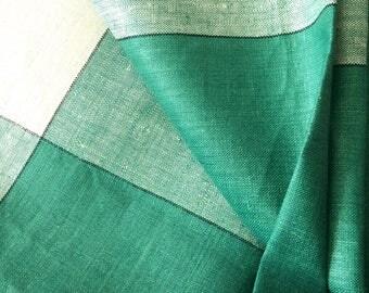 Bucilla Linen Tablecloth Green Czechoslovakia New with Tag