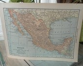 Vintage Map of Mexico 1903