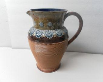 Doulton Lambeth English Stoneware Pitcher