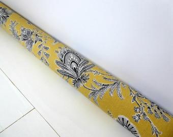 Door Draft Stopper - Door Snake - Traditional Draft Stopper - Gold Door Snake - Traditional Home Decor -  A5964