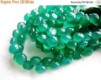 35% OFF Green onyx faceted onion briolette- 7mm- 8 briollete