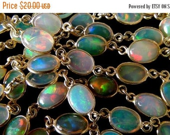 SALE Ethiopian Opal 14k Gold Filled Connector- 1 Connector
