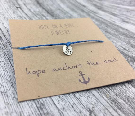 Anchors Bracelet - Sterling Silver Anchor Bracelet - Cord Bracelet - Nautical bracelet - Anchor Jewelry - Beach Bracelet - Hope Bracelet
