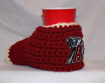 Ready to ship - Alabama Crimson tide Drink Mitt  - The mitten with the drink holder - show your team pride - Roll tide
