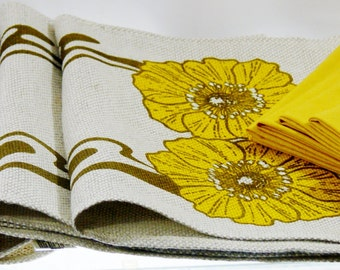 Kitsch Vintage English Linen Placemats Napkin Set of 12 Unused Mint