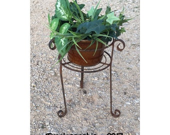 Plant Stand - Iron Plant Stand - Metal Plant Stand - Plant Holder - Iron Plant Holder - Vintage Plant Stand - Rusty Plant Stand - Planter