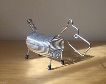 mid century scottie dog chrome letter holder
