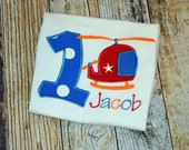 Helicopter Themed Personalized Birthday Tshirt - Any Age