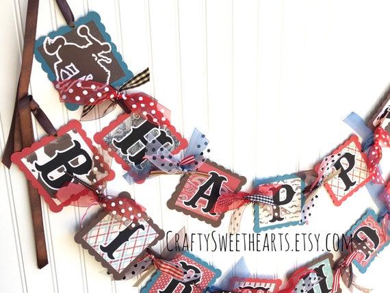 Cowboy Birthday Banner Decoration Western Party Theme