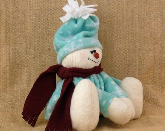 Sitting Fabric Snowman